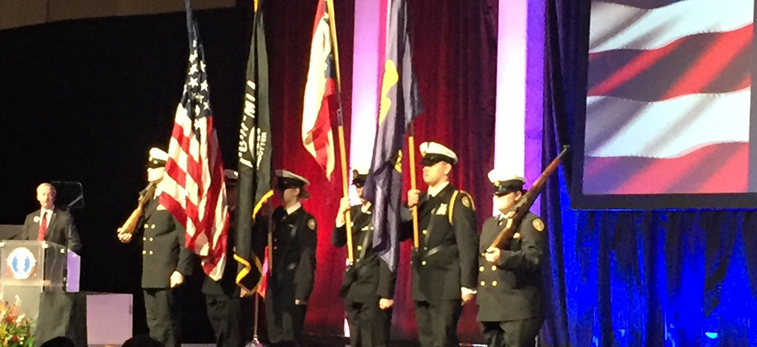 NJROTC Presented Colors at OSBA Capital Conference