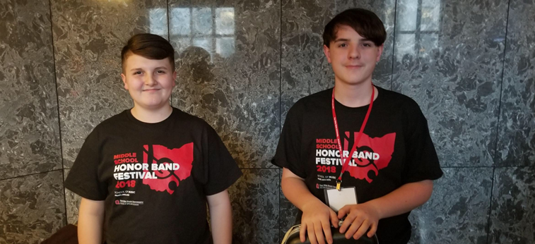 Student selected to perform at the 2018 Ohio State University Middle School Honor Band Festival