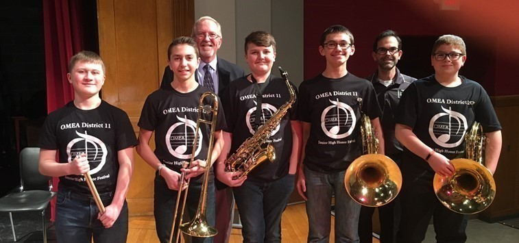 GMS Students participate in OMEA District XI Middle School Honor Band