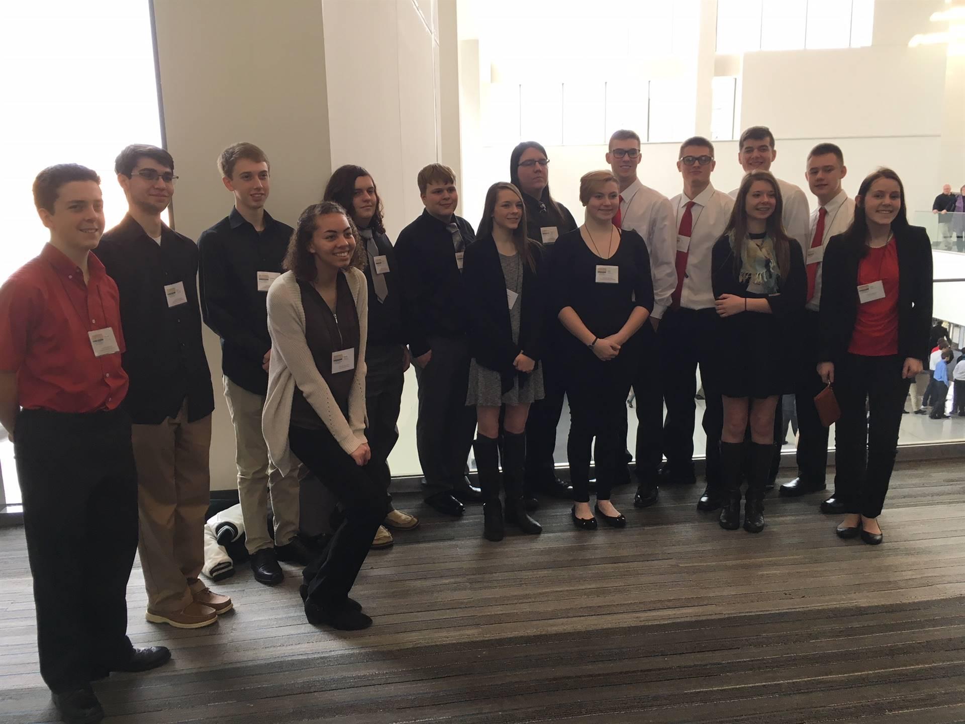2018 State BPA competitors pose in Columbus, Ohio