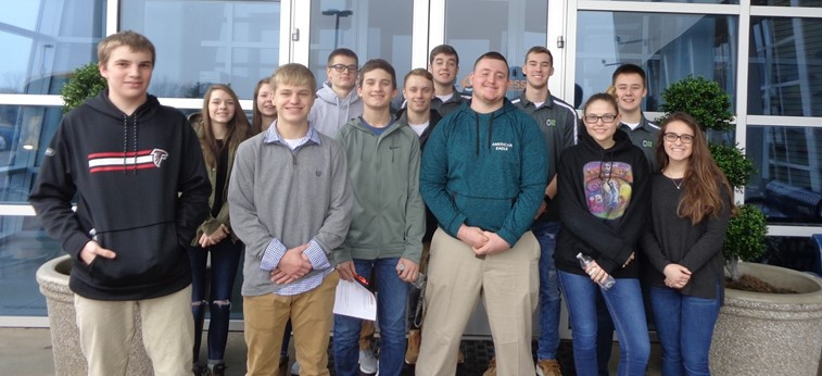 Greenville High School business students tour Payless Distribution Center in Brookville.