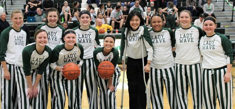 Lady Wave Basketball Senior Night